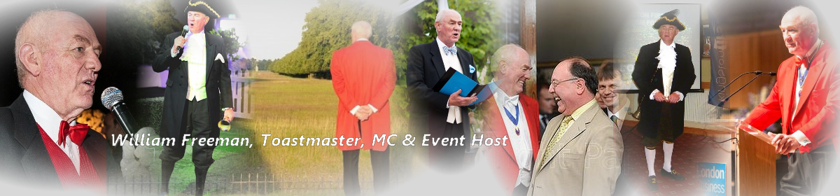 William Freeman Toastmaster, MC & Event Host